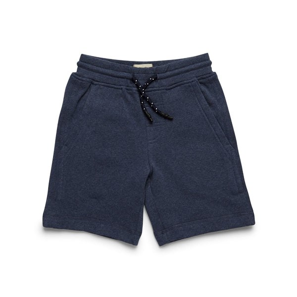SHORTS - Boys Soft Heather Fleece Short - Indigo Blue