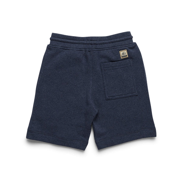 Boys Soft Heather Fleece Short - Indigo Blue