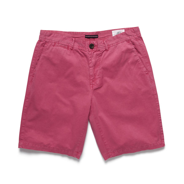 SHORTS - Flat Front Short - Washed Red