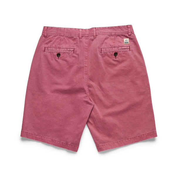 SHORTS - Garment Washed Twill Short - Earth Red