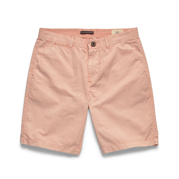 SHORTS - Garment Washed Twill Short - Strawberry