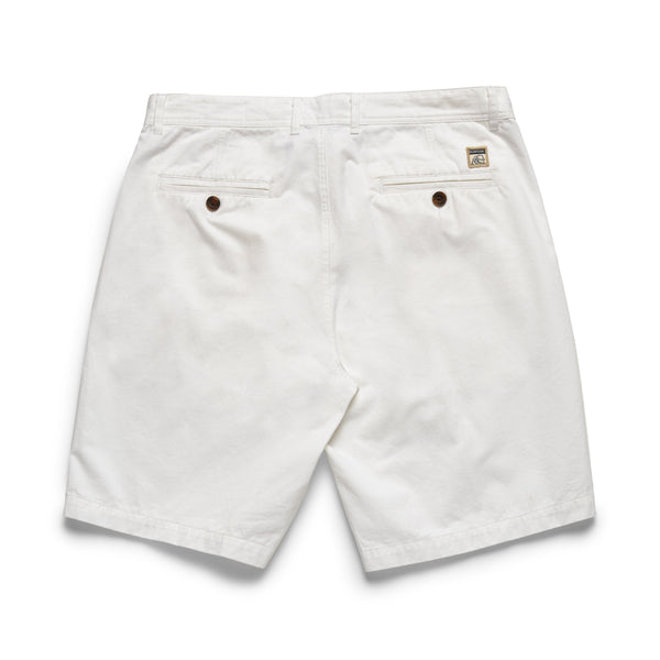 Garment Washed Twill Short - White