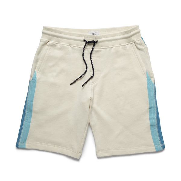 SHORTS - Printed Retro Stripe Short - Off White