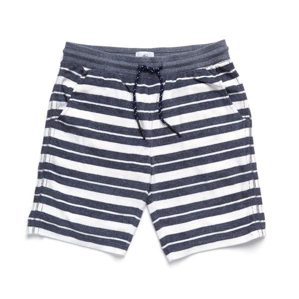 SHORTS - Saltwater Terry Stripe Short - Blue Granite