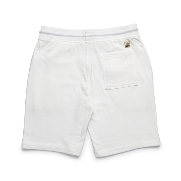SHORTS - Soft Heather Fleece Drawstring Short - White