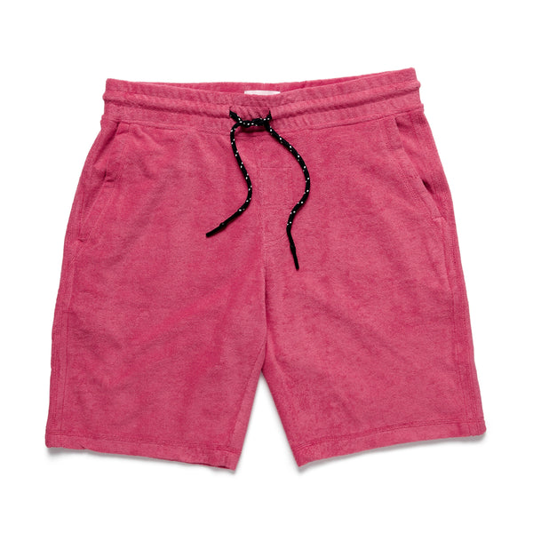 SHORTS - Towel Terry Short - Washed Red