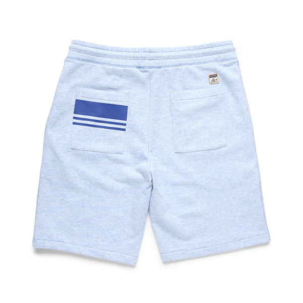 SHORTS - Two Tone Fleece Terry Short - Blue Heather