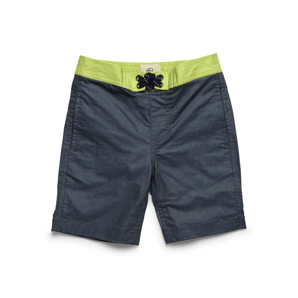 SWIM - Boys Colorblock Lined Trunk - Navy Blazer