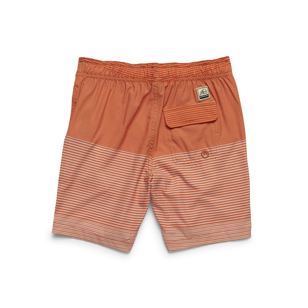 Boys Ombre Stripe Boardshort - Koi