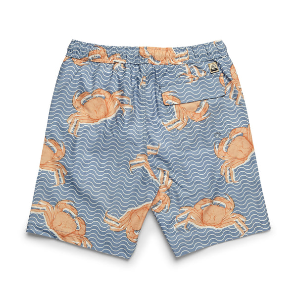 SWIM - Crab Print Lined Volley - Peach