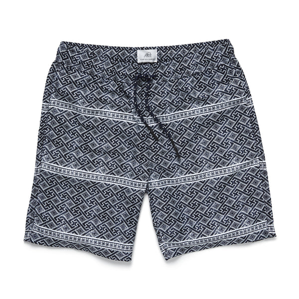 SWIM - Geo Stripe Volley Trunk - Navy
