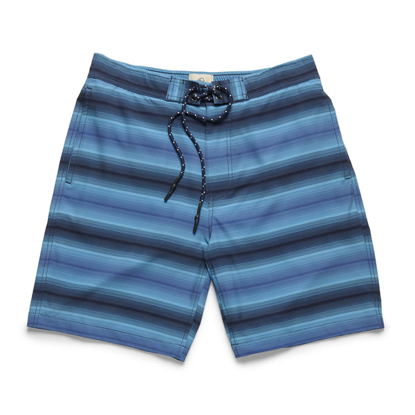 Gradient Stripe Lined Trunk - Navy