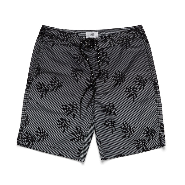 SWIM - Linear Shadow Print Boardshort - Black