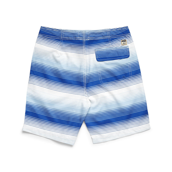 SWIM - Ombre Stripe Boardshort - Jet Stream