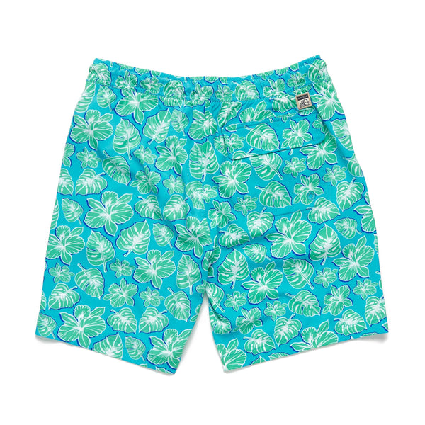 SWIM - Shadow Tropical Flower Volley - River Blue
