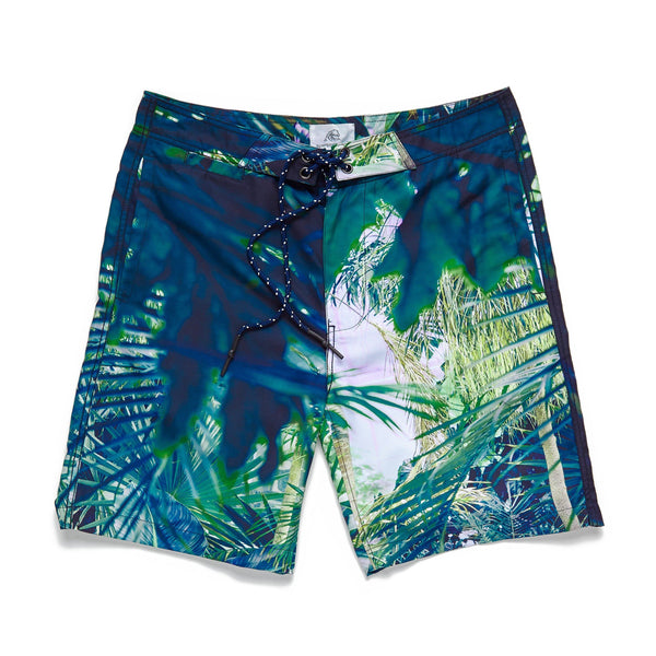 SWIM - Tropical Foliage Boardshort - Green Leaf