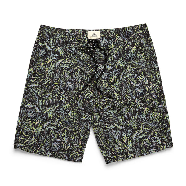 Tropical Print Classic Boardshort - Pirate Black