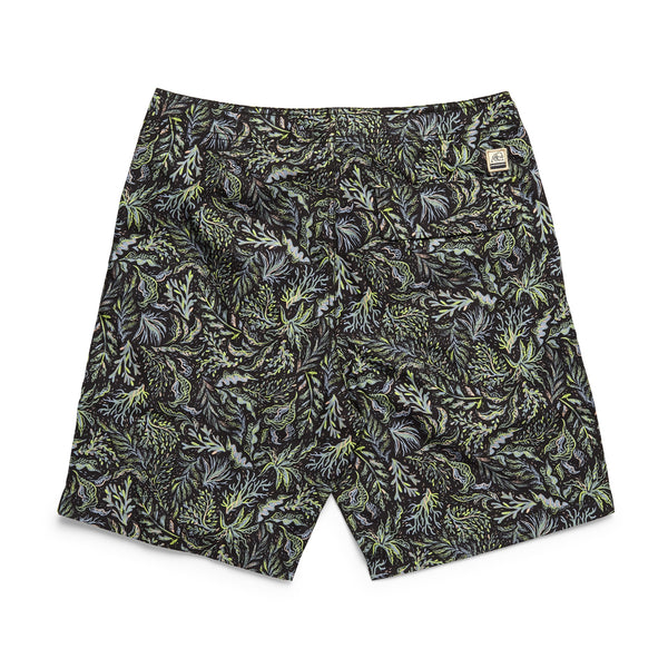 SWIM - Tropical Print Classic Boardshort - Pirate Black