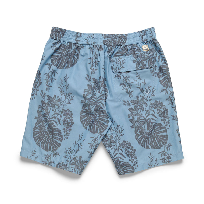 Washed Lined Tropical Boardshort - Blue Jay