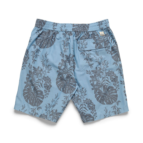 SWIM - Washed Lined Tropical Boardshort - Blue Jay