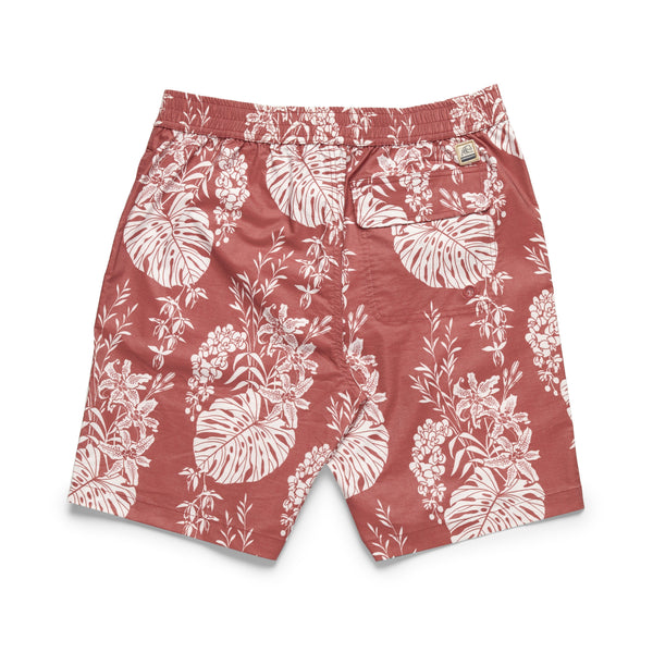 SWIM - Washed Lined Tropical Boardshort - Scooter