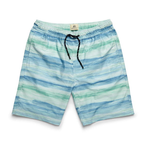 SWIM - Water Print Lined Volley - Ethereal Blu
