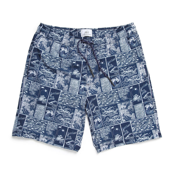 SWIM - Wave Block Volley Trunk - Navy/White