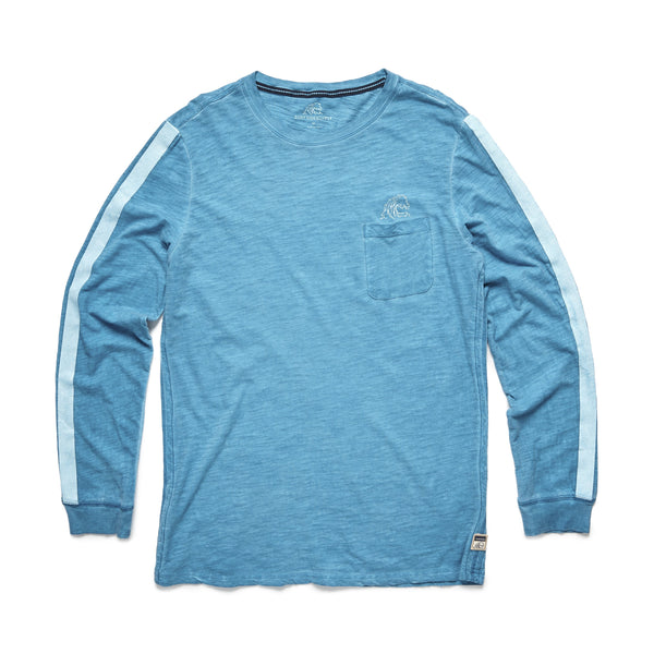 TEES - L/S Cold Dye Graphic Tee - Turquoise