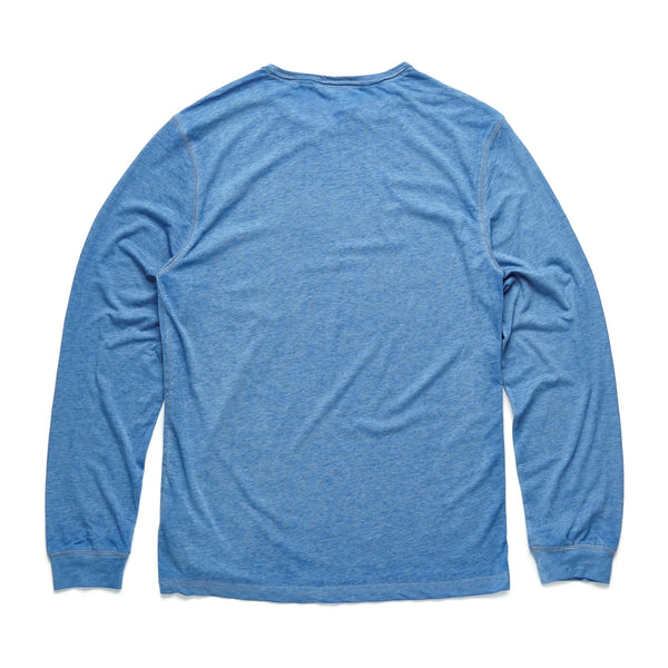 TEES - L/S Raw Edge Pocket Tee - Riviera Blue