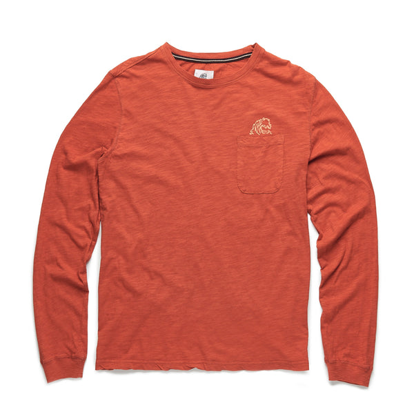TEES - L/S Slub Cotton Logo Tee - Orange