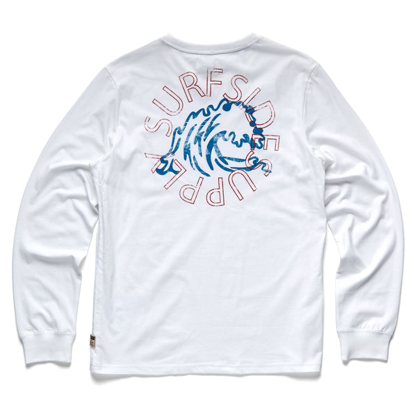 TEES - L/S Surfside Graphic Tee - White