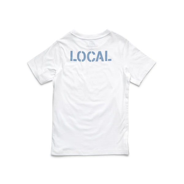 S/S Boys Local Graphic Tee - White