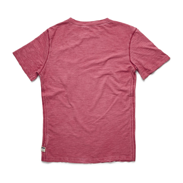 TEES - S/S Cold Dye Graphic Tee - Washed Red