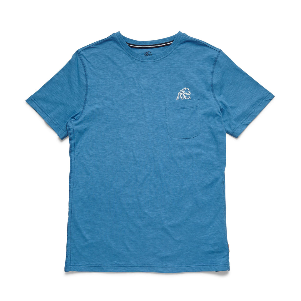 TEES - S/S Crab Claw Logo Tee - Cendre Blue