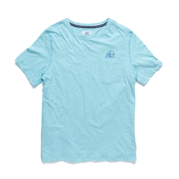 TEES - S/S Heathered Pocket Logo Tee - Spearmint