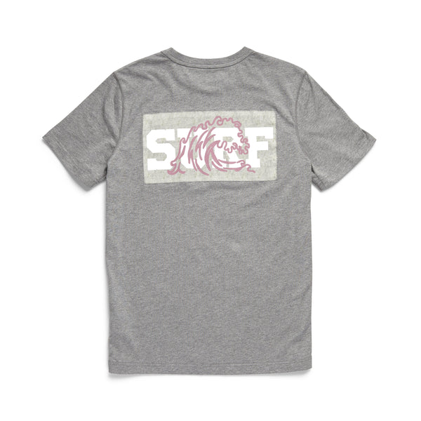TEES - S/S Surf Graphic Tee - Heather Grey