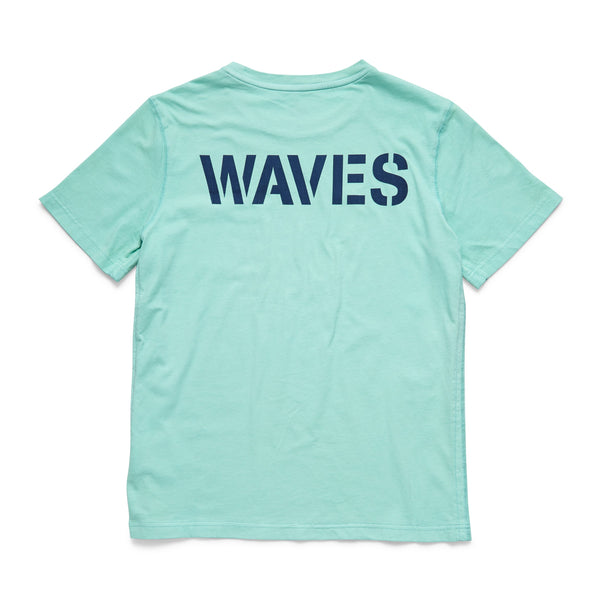 TEES - S/S Waves Graphic Tee - Aruba Blue