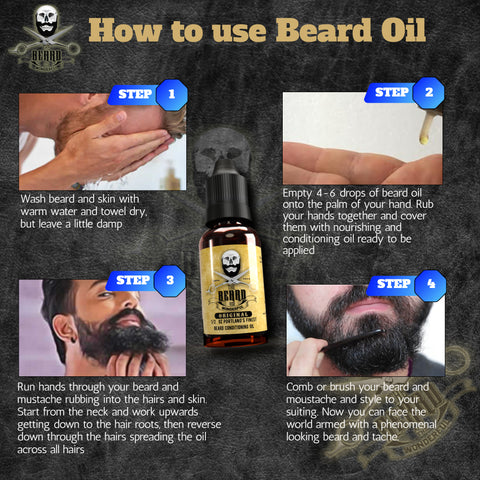 step by step guide on how to use beard oil
