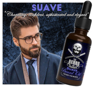 Suave, Rogue, Boujee, and Dapper Beard Oils 1Oz Pipette Bottles for The more Sophisticated Guy