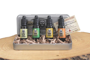 Beard Oil 4 Bottle Giftset Collection Leave-In Premium Conditioning growth oil In Sweet Orange, Eucalyptus, Lemongrass and Original lo-scent