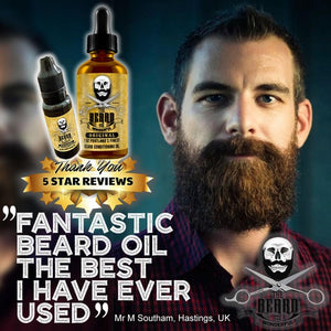 Beard Busting Oil Combo BIG 1Oz Bathroom Bottle & 15ml Pocket Size. Conditioning, Strengthening, Softening, Growth Blend
