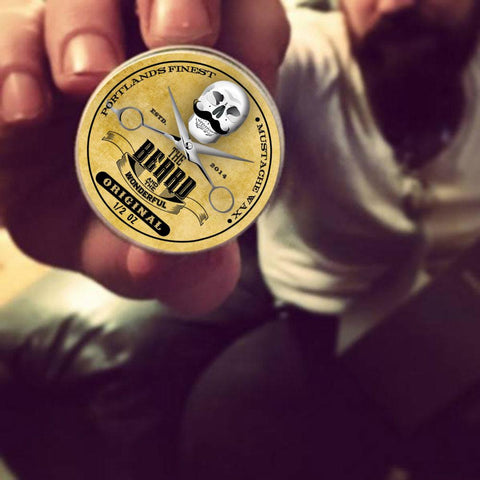 The Beard & The Wonderful, Portland Moustache Wax. 1/2 Oz tins (15ml)