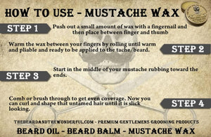 Ultimate Mustache Wax Gift Set. 6 x Tins Premium Mustache Wax Set in 6 fragrances