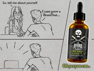 Beard Growth Oil & Balm Set 30ml Bottle & 1oz Tin for Styling and Growth