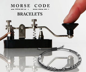 Morse Code Bracelet Adjustable Corded Bracelet Secret Code Many sayings or customise Gift Jewelry