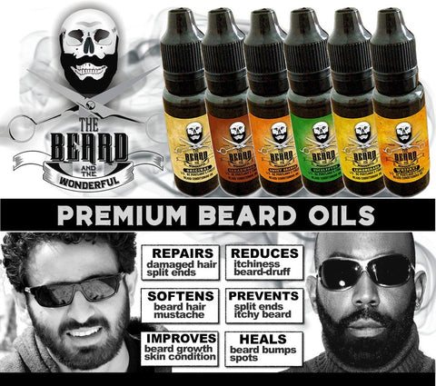Beard Oil Conditioning, Strengthening, Softening, Revitalizing Blend 1/2 Oz Bottle (15ml)