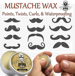 Finest Moustache Wax & Conditioning Beard Oil Set