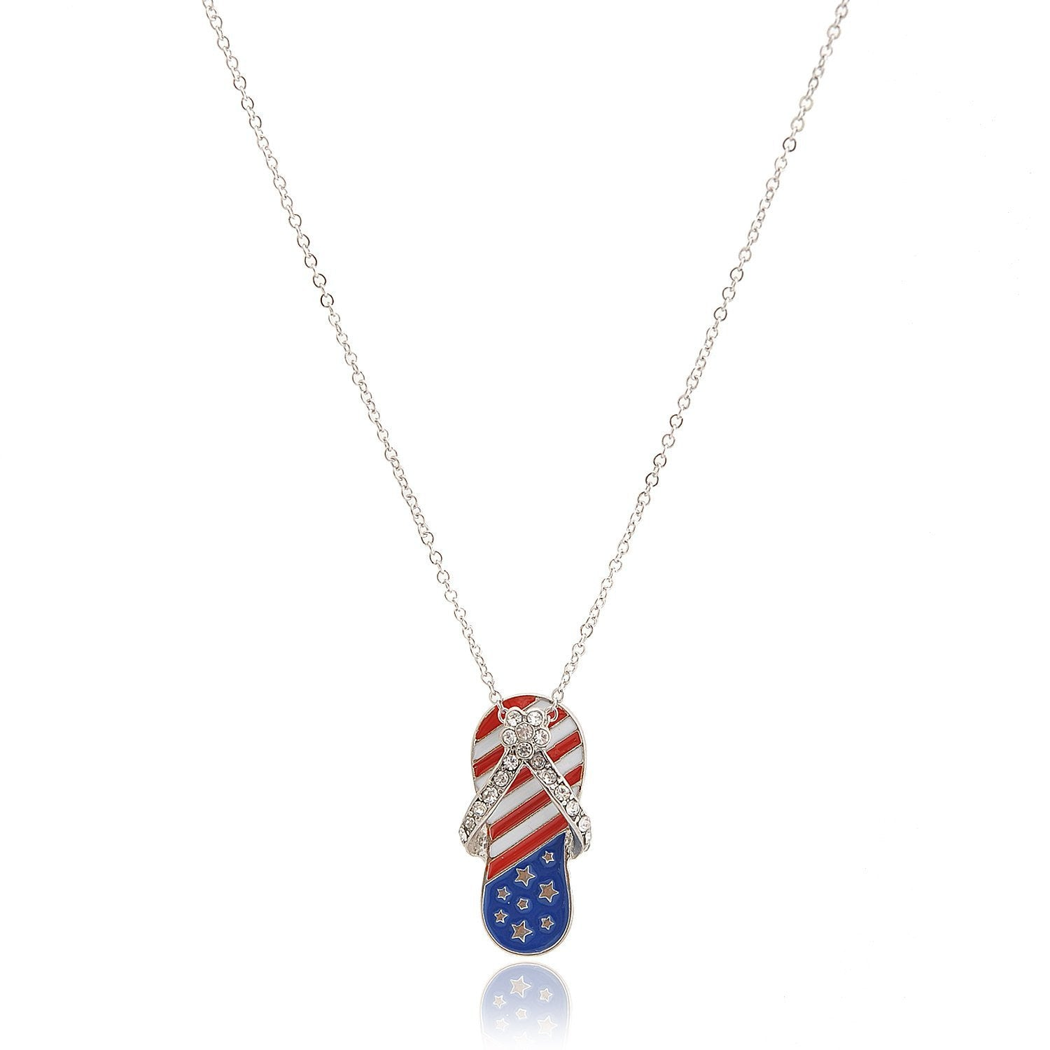 aliexpress store types toned necklace buy women flag day gift product clear rhodium com jewelry with men from stars american independence july enamel crystals