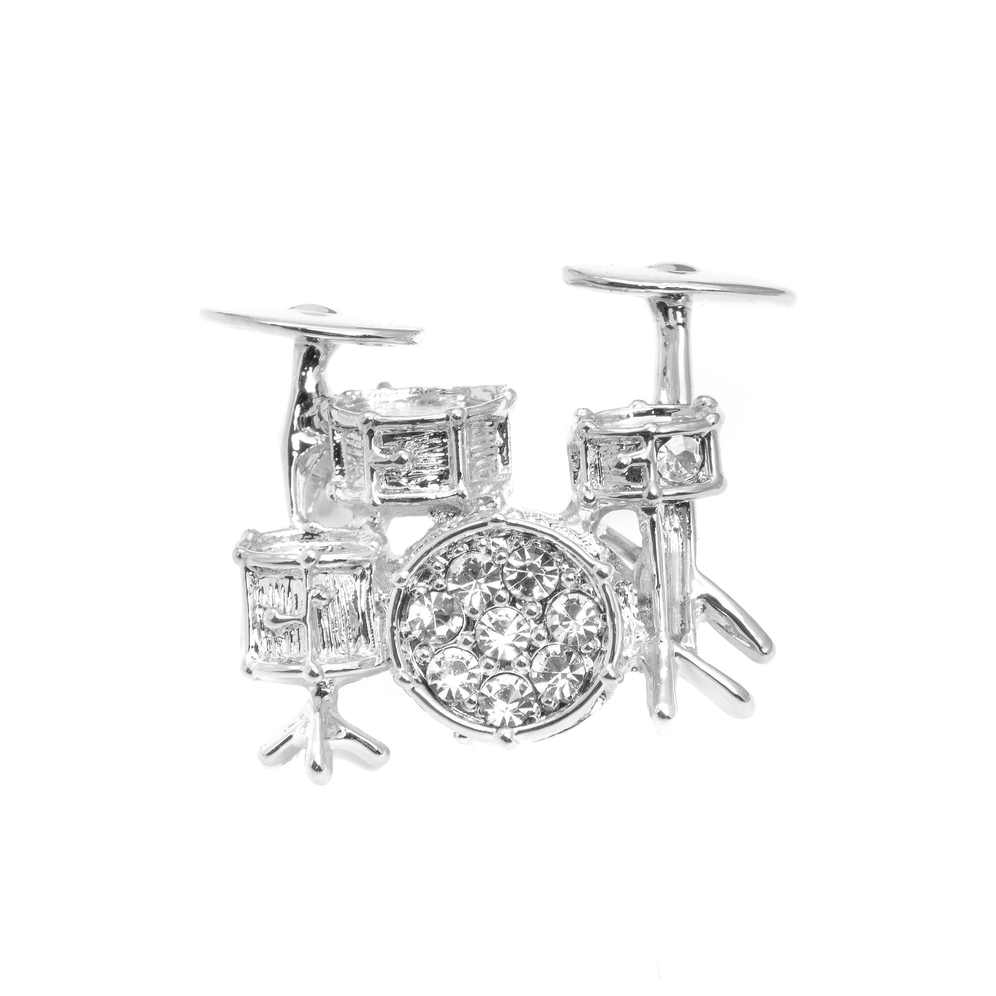 ... Crystal Drum Set Brooch Pin   Spinningdaisy ...