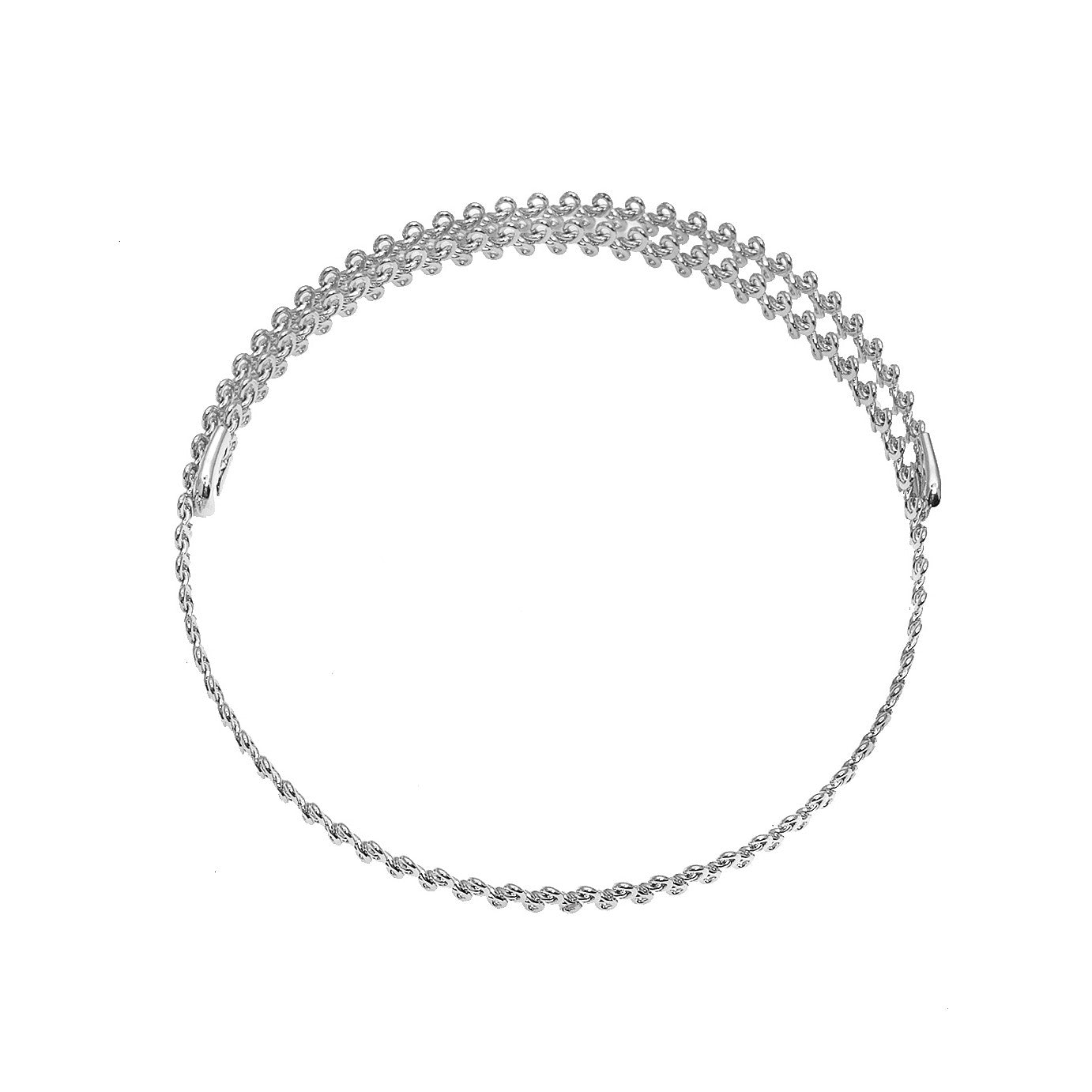 Overlapped Simple Wire Frame Choker Necklace - Spinningdaisy